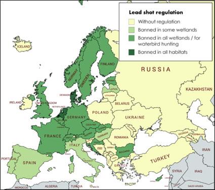 Map Lead shot regulation