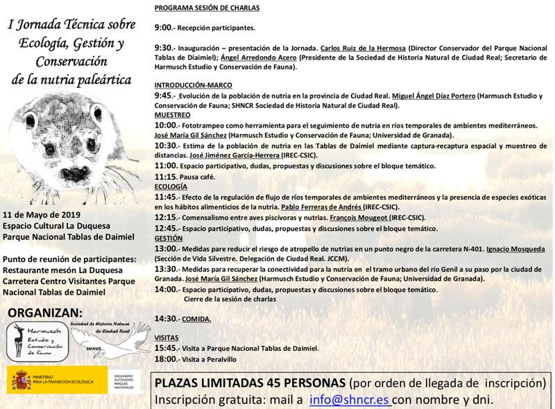 Jornada sobre Ecología, Gestión y Conservación de la nutria paleártica